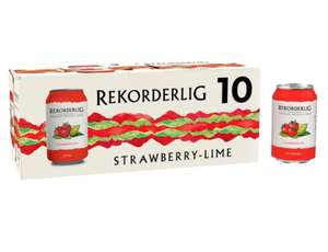 Rekorderlig Premium Cider Strawberry & Lime 10 X 330 ML £8 Clubcard Price (Minimum Basket / Delivery Fee Applies) @ Tesco