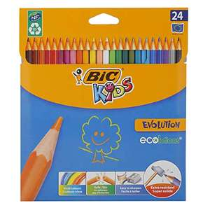 BIC Kids Evolution ECOlutions Coloured Pencils - Assorted Colours, Pack of 24 Colouring Pencils 4.3mm lead £2.30 Prime (+£4.49 NP) @ Amazon