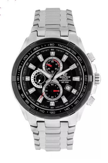 Casio Edifice Men's Black Dial Chronograph Watch £63.20 @ H Samuel
