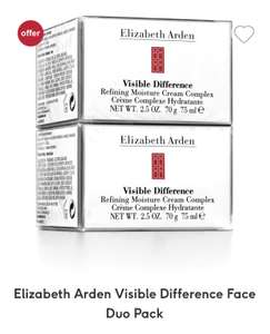 3 for 2 on Elizabeth Arden Visible Difference Face Duo Pack (plus 10% off for students) £70 @ Boots