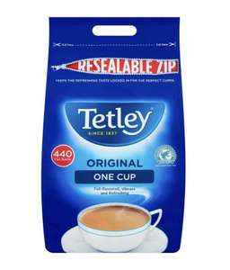 Tetley 440 tea bags only £4.99 instore at LIDL