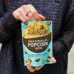 Two free popcorn bites pouches from Joe & Seph's on 4-9th May, + £2.50 delivery @ Vodafone VeryMe Rewards