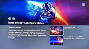 Pre Order Mass Effect Legendary Edition £53.99 and get 6000 MS Reward points via punchcard