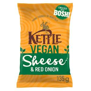 Kettle Chips Vegan Cheese & Red Onion 135g £1 @ Morrison