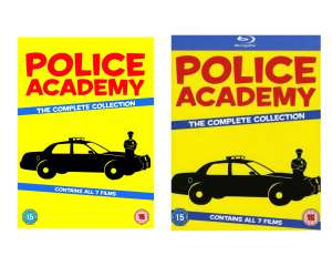 Police Academy: The Complete Collection [7 film] [Blu-ray Region Free] 2013 Edition £15.99/DVD £11.99 (£2.99 p&p non prime) @ Amazon