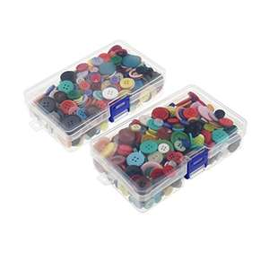LJY 1000 x Round Craft Resin Buttons Assorted Colors and Sizes + Storage Boxes £5.50 (+£4.49 NP) Sold by LJY Direct UK & Fulfilled by Amazon