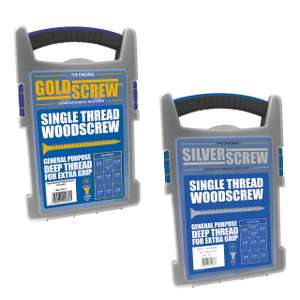 Goldscrew or Silverscrew PZ Double-Countersunk Wood screws Trade Case Grab Pack 1000 Pcs - £9.99 (free click & collect) @ Screwfix
