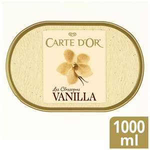 Carte D'Or 1 litre icecream for £2 at Sainsburys from May 5 (min purchase / delivery fee applies)