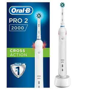 Oral-B Pro 2000 Cross Action White Electric Rechargeable Toothbrush - £35 @ Sainsbury's