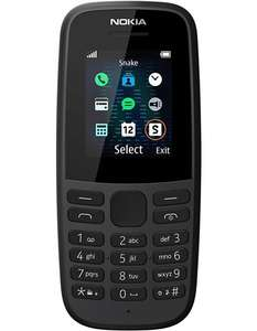 Nokia 105 (2019) - Unlocked & Sim Free (Black), Dual Sim - £15.94 Delivered @ Box