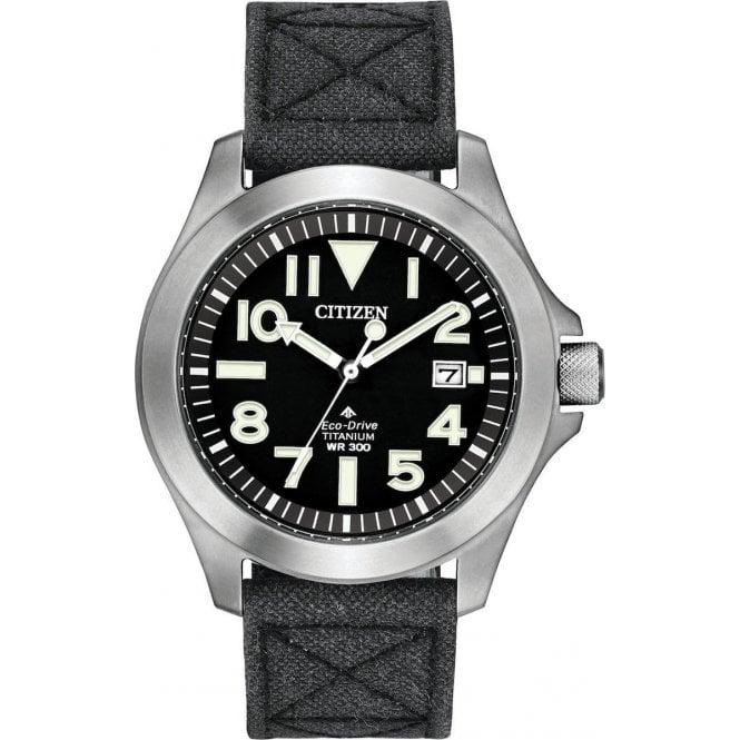 Citizen Men's Eco-Drive Titanium Date Fabric Strap Watch, Grey/Black BN0118-04E - £215.10 @ Hillier Jewellers