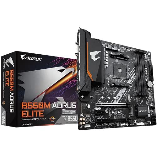 GIGABYTE B550M AORUS ELITE mATX Motherboard for AMD AM4 CPUs - £99.99 @ Amazon