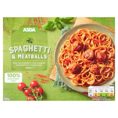 Italian Spaghetti & meatballs ready meal down to 75p at Asda Blyth