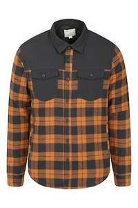 Mountain Warehouse Mens Flannel Padded Jacket Shirt in yellow/brown for £23.99 delivered using code @ eBay / Mountain Warehouse