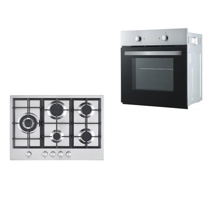 Cookology Fan Oven & 70cm 5 Burner Gas Hob in Stainless Steel Pack £239.99 Using Code @ eBay / thewrightbuyltd
