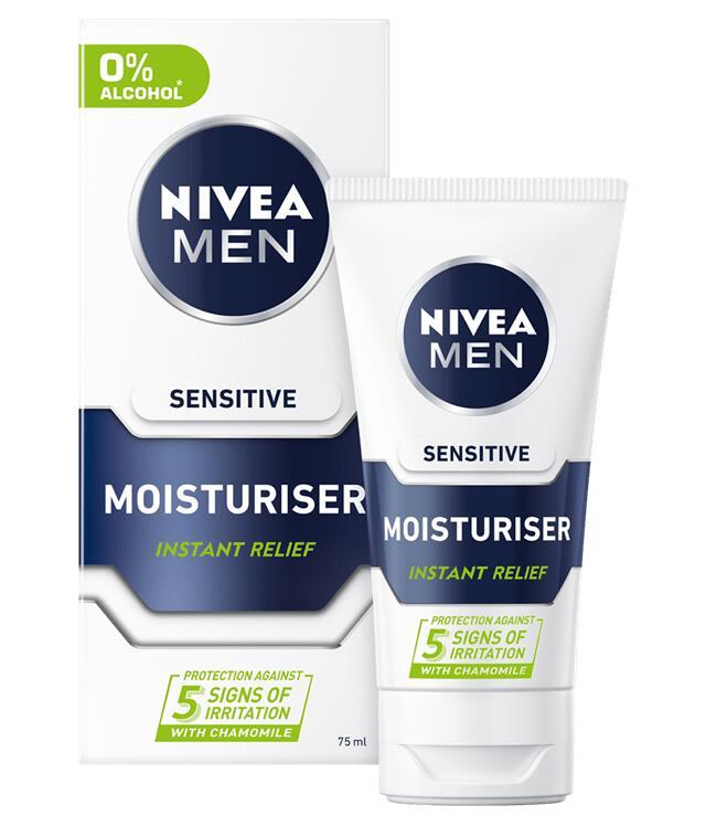 Nivea Men Sensitive Moisturiser range from £2.92 at Superdrug. Free order & collect