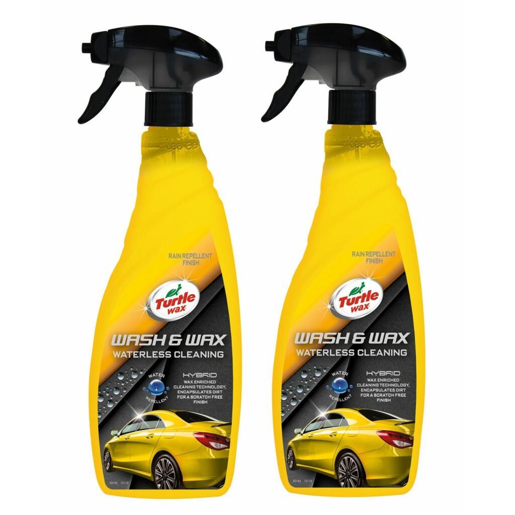 Turtle Wax 53143 Hybrid Wash & Wax Waterless Cleaning Rain Repellent 2X750Ml £9.60 at ebay / turtlewaxeurope