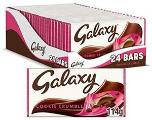 Galaxy Cookie Crumble Chocolate Bar for Sharing, 24 Bars of 114 g - £24 @ Amazon