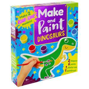 Make and Paint Dinosaurs and Grafix car plaster set and many more 2 for £5 + £1.99 C&C (Free over £10) @ The Works