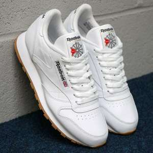 Reebok Classics Leather Trainers White/Navy Blue Sizes 11/12 are £14.95 INSTORE @ Adidas/Reebok Outlet Castleford