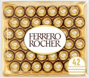 Ferrero Rocher Chocolate Easter Gift Set, Hazelnut and Milk Chocolate Pralines, Box of 42 Pieces - £10.50 / (+£4.49 Non Prime) @ Amazon