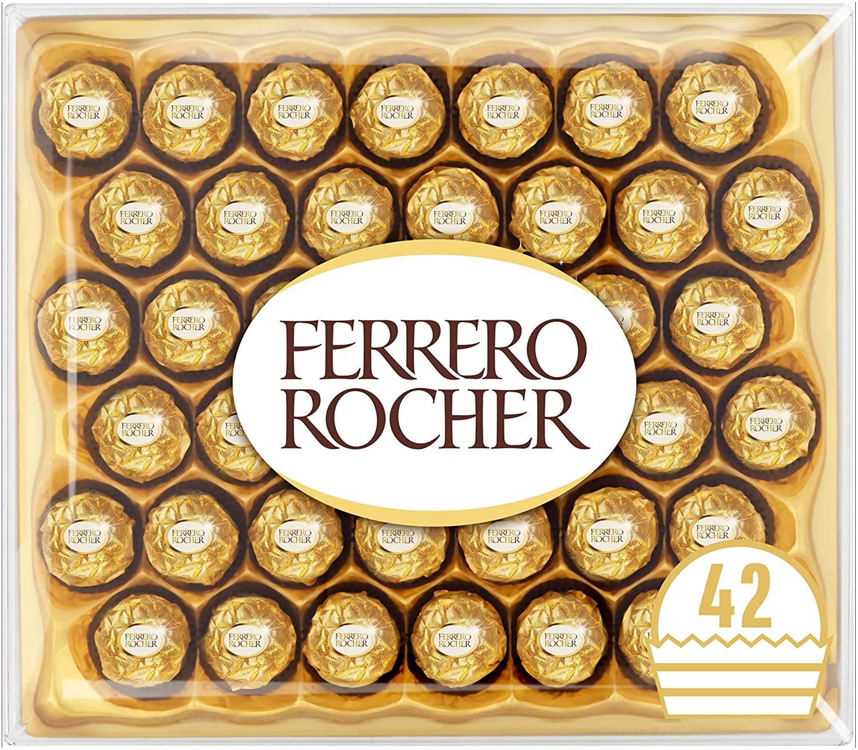 Ferrero Rocher Chocolate Easter Gift Set, Hazelnut and Milk Chocolate Pralines, Box of 42 Pieces - £10.50 / (+£4.49 Non Prime) @ Amazon
