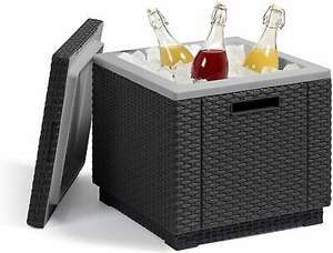 Allibert Ice Cube Cooler Graphite Outdoor Drinks Box Storage Table Keter Rattan @ eBay gardenstoredirect - UK Mainland