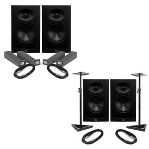 Kali Audio LP-6 (Pair) With Isolation Pads & Cables - £244.50 / Or Pair of Monitors, cables & Stands £279.50 With Code @ eBay / music-matter
