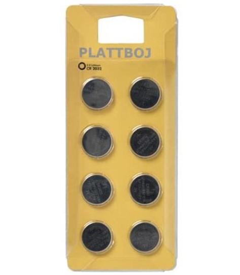 Plattboj 8 x CR2032 Lithium Batteries £1 @ Ikea