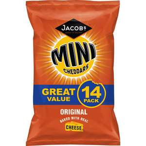 14 Pack Jacobs Mini Cheddars Original/Red Leicester are £1.49 @ Farmfoods