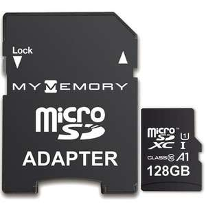 MyMemory 128GB V10 High Speed Micro SD Card (SDXC) A1 UHS-1 U1 + Adapter - 100MB/s (Lifetime warranty) £13.99 @ MyMemory