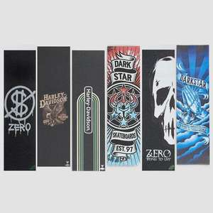 """Various Skateboard 9"""" Griptape with Graphics from £3-£5 + £3.99 Delivery - (£6.99 - £8.99 Delivered UK Mainland) @ Rollernsnakes"""