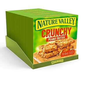Nature Valley Crunchy Peanut Butter Cereal Bars 5 x 42g (25 Bars) - £5 / £4.50 with S&S @ Amazon