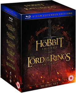 Middle Earth – Six Film Collection Extended Edition Blu-Ray £51.98 delivered with code @ chalkys_uk / ebay
