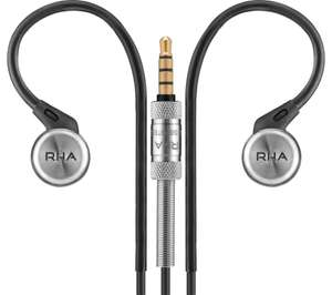 RHA MA750i Earphones - Black / Stainless Steel - noise isolating, in-ear, remote and mic, iOS compatible - £9.97 @ Currys PC World