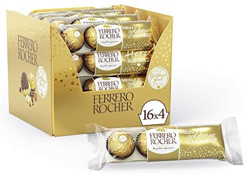Ferrero Rocher Chocolate , 16 Pack of 4, 64 Chocolates £12.66 Prime (+£4.49 Non Prime) S/S £12.03 @ Amazon
