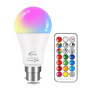 Colour Changing Bulb B22 10W Dimmable, RGBW LED Light Bulbs Mood Lighting £7.64 Prime (+£4.49 NP) Sold by JMHong and Fulfilled by Amazon