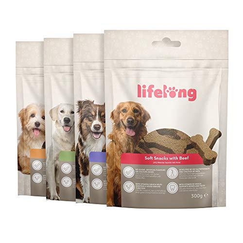Amazon Brand - Lifelong - High-Protein Dog Treats with Meat Menu-Lamb, Duck, Turkey & Beef (300gr x 4 Packs) - £4.86 (+£4.49 NP) @ Amazon