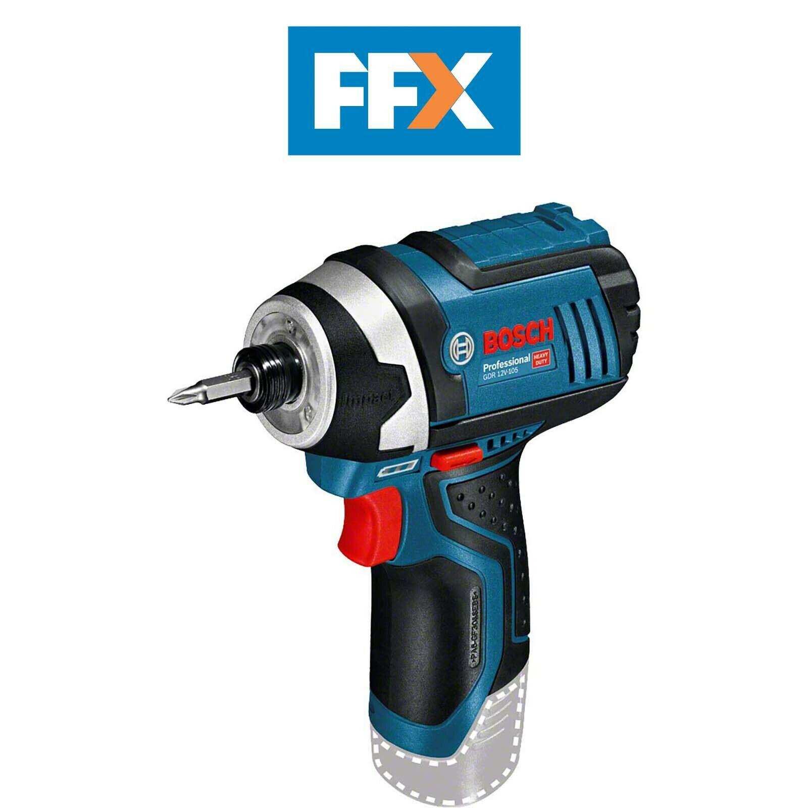 Bosch GDR12V105N 12v Cordless Impact Driver Bare Unit £46.92 @ FFX Ebay