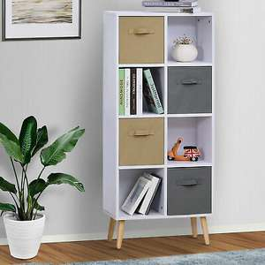 Freestanding 8 Cube Storage Cabinet Unit w/ 4 Drawers Bookcase Display Shelves £37.59 Delivered (UK Mainland) @ 2011HomCom/Ebay