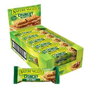 Nature Valley Crunchy Oats & Honey Cereal Bars 18 x 42g / Crunchy Oats and Chocolate 18 x 42g £3.60 (+£4.49 non prime) @ Amazon