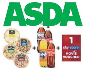 2 Medium Pizzas, 1 Drink and A Sky Store Movie Voucher for £5 instore @ Asda