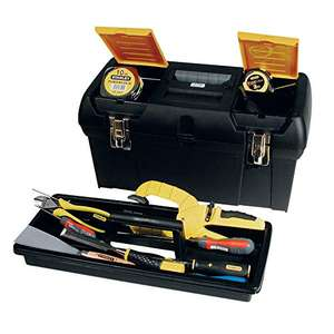 "Stanley 1-92-066 Toolbox with Tote Tray, 19""/48cm (In stock on May 13, 2021.) £12.99 + £4.49 NP @ Amazon"
