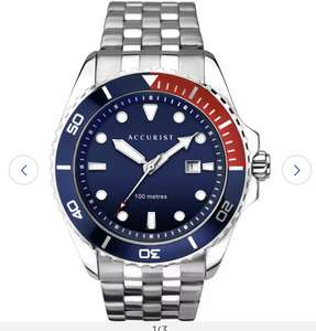Accurist Men's Silver Stainless Steel Bracelet Watch with rotating bezel £29.99 at Argos
