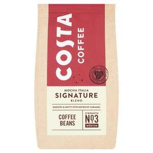 Costa Coffee Signature Blend Coffee Beans 400g (Larger Pack) - £3 @ Waitrose & Partners