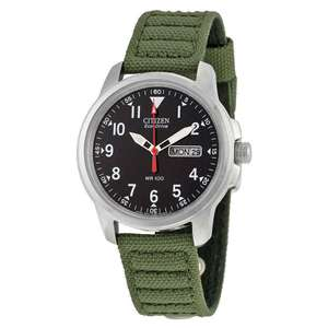 Citizen Men's Eco-Drive Analogue Green Canvas Strap Watch, £69.99 at Argos (Free click and collect)