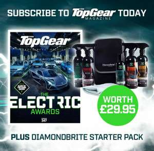 6 issues of Top Gear Magazine + Diamond Bright car cleaning set £9.99 @ buysubscriptions.com