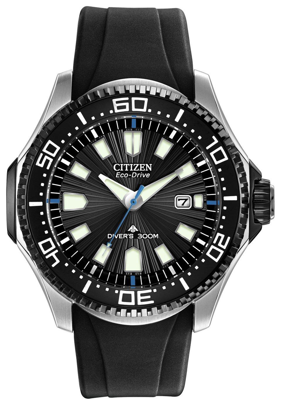 Citizen Eco-Drive Promaster Men's Diver Black Silicone Strap Watch - £149.99 (Free C&C) @ Argos