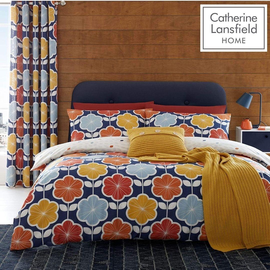 Catherine Lansfield retro floral single duvet set now £7.50 prime / £11.99 non prime at Amazon