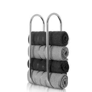 Wall Mounted Towel Rail - Includes Fixings - Holds up to 5 Towels - £8 Delivered @ WeeklyDeals4Less